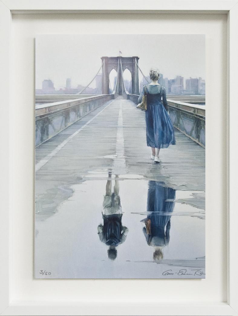 Gan-Erdene Tsend, Brooklyn Bridge, 2019, Kunstdruck auf Papier, mit Acryl übermalt, Auflage: 50 Exemplare © Gan-Erdene Tsend