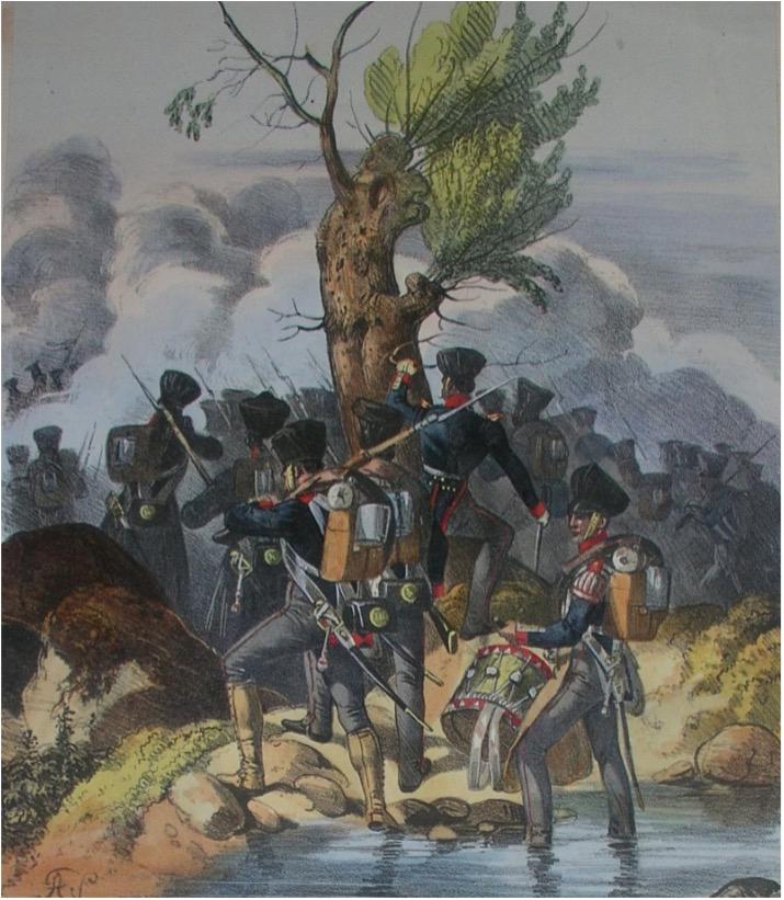 Abbildung von Infanteriesoldaten